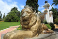 Statue of lion in  Sochi  arboretum Royalty Free Stock Photo