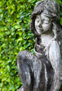 Statue of a little girl in the park Royalty Free Stock Image
