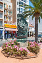 Statue in Lloret de Mar Spain Stock Images