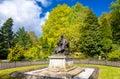 Statue of Lord Kelvin in Kelvingrove Park - Glasgow Royalty Free Stock Photo