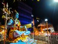 Statue of Lord Shiva on the street of Rishikesh Royalty Free Stock Photo