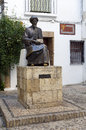 Statue of maimonides in cordoba spain medical jewish rabbi and theologian al andalus the middle ages was important philosopher Royalty Free Stock Photo