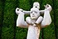 Statue of Man and child, Hakone, Japan Royalty Free Stock Photo