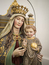 Statue maria of in a bavarian church Stock Image
