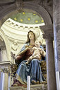 Statue of maria and child in Venice Stock Image