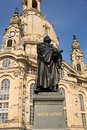 Statue of Martin Luther in front of Frauenkirche, Dresden, Germany