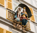 Statue Mary and Jesus Germany Royalty Free Stock Photo