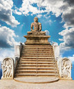Statue of a meditating Buddha Stock Photos