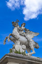 Statue Mercure monte sur Pegase in Tuileries Garden in Paris Royalty Free Stock Photo