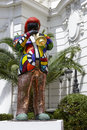 Statue of miles davis in nice france may by french sculptor painter and film maker niki de saint phalle set front famous and Royalty Free Stock Image