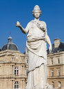 Statue of minerva equated with the greek goddess athena at the french senate in the jardin de luxembourg in paris france Royalty Free Stock Photography