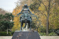 Statue of Mongolian warrior Genghis Khan, Marble Arch Royalty Free Stock Photo
