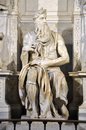 Statue of Moses by Michelangelo in the church of San Pietro in V Royalty Free Stock Photo