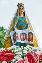 Statue of Mother Mary at a Easter procession, Leon, Iloilo