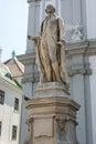 Statue of musician Franz Joseph Haydn Vienna Royalty Free Stock Photo