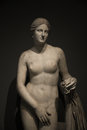 Statue of nacked venus at black background rome italy Stock Images