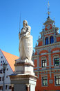 Statue near house of the blackheads riga latvia Royalty Free Stock Image