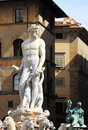 Statue of neptune in florence italy Stock Image