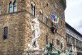 Statue of Neptune in Florence, Italy Royalty Free Stock Photo