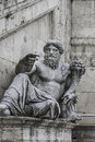 Statue of neptune at piazza del campidoglio rome italy Royalty Free Stock Image