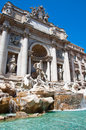 The Statue of Neptune. Trevi Fountain in Rome, Italy. Royalty Free Stock Image