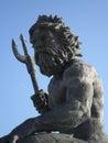 Statue of neptune at virginia beach Royalty Free Stock Photo