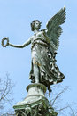 Statue od angel in charlottenburg palace garden of berlin Stock Image