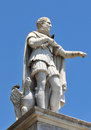Statue old of medieval count in nice france Royalty Free Stock Photos
