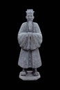 Statue of an old noble man on black background Royalty Free Stock Photos