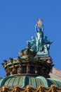 Statue on the opera garnier in paris france Stock Image