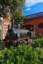 Statue of orient express at Istanbul Turkey Royalty Free Stock Photography
