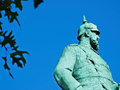 Statue of the otto von bismark prussian statesman Royalty Free Stock Photography