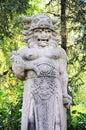 Statue of pagan god radegast czech republic Stock Photos
