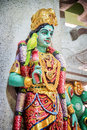 Statue of Parvati in Sri Veeramakaliamman Temple, Singapore Royalty Free Stock Photo