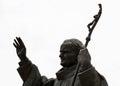 Statue of pope John Paul II in Nitra city Royalty Free Stock Photo