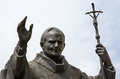 Statue of pope John Paul II in Nitra Royalty Free Stock Photo