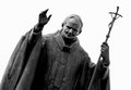 Statue of pope John Paul II Royalty Free Stock Photo