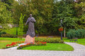 Statue of pope john paul ii in wieliczka poland photo taken on august Royalty Free Stock Photos