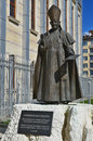 Statue of pope john xxiii sofia bulgaria sept in front the cathedral st joseph which was consecrated by paul ii Stock Photo