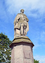 Statue of prince albert on north inch perth scotland consort to queen victoria overlooking charlotte street at the southern end Royalty Free Stock Photography