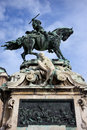 Statue of Prince Eugene of Savoy in Budapest Stock Photos