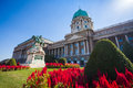 The statue of prince eugene of savoy in front of buda castle nudapest hungary Stock Photography