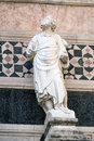 Statue of Prophet, Portal on the side-wall of Florence Cathedral Royalty Free Stock Photo
