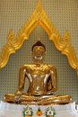 Statue of  pure gold Buddha,  Thailand Royalty Free Stock Photo