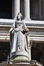 Statue of Queen Anne at St Paul's in London Royalty Free Stock Images