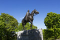 Statue of queen elizabeth in ottawa ii stone hill park Royalty Free Stock Photos