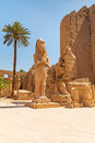 Statue of ramesses ii in karnak temple luxor egypt Stock Photos