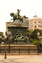 Statue in rio de janeiro the estatua equestre d pedro i the praca tiradentes the center of brazil south america Royalty Free Stock Photography