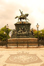 Statue in rio de janeiro the estatua equestre d pedro i the praca tiradentes the center of brazil south america Stock Images