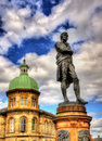 Statue of Robert Burns in Leith - Scotland Royalty Free Stock Photo